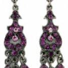 Chandelier Earrings - Amethyst Austrian Crystal Women's Jewelry