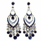 Chandelier Earrings - Montana Blue Austrian Crystal Women's Jewelry