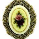 Victorian Porcelain Flowers Limoge Pin Women's Jewelry