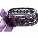 Amethyst Austrian Crystal Stacked Bracelets Women's jewelry
