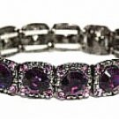 Vintage Fashion Jewelry Bracelet - Amethyst Austrian Crystal Women's jewelry