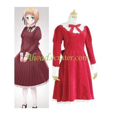 Hetalia Axis Powers Liechtenstein Red Cosplay Costume
