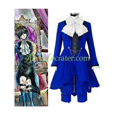 Kuroshitsuji Ciel Phantomhive Blue Cosplay Costume
