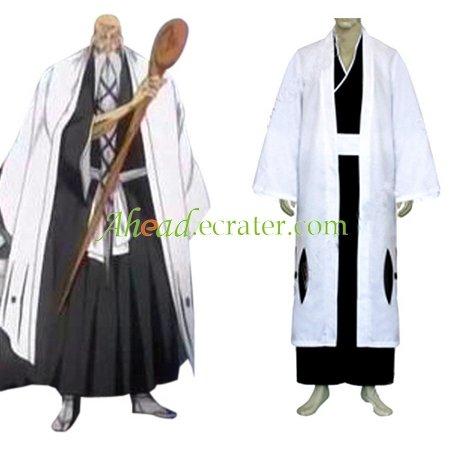 Bleach 1st Division Captain Yamamoto Genryuusai Shigekuni Halloween Cosplay Costume