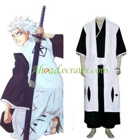 Bleach 10th Division Captain Toushiro Hitsugaya Halloween Cosplay Costume