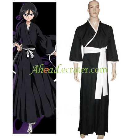 Bleach Kuchiki Rukia Soul Reaper Halloween Cosplay Costume