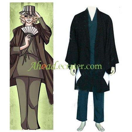 Bleach Urahara Kisuke Men's Halloween Cosplay Costume