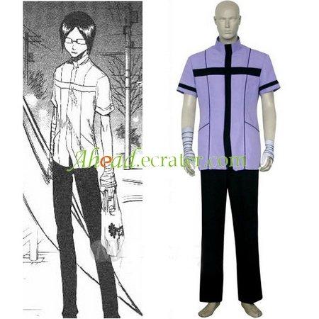 Bleach Uryuu Ishida Quincy Uniform Cosplay Costume