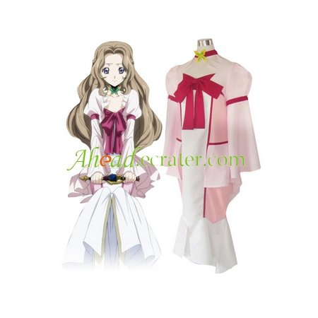 Code Geass Lelouch of the Rebellion Nunnally Lamperouge Cosplay Costume