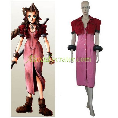 Final Fantasy VII Aerith Halloween Cosplay Costume