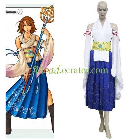 Final Fantasy X-0 Yuna Halloween Cosplay Costume