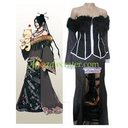 Final Fantasy X Lulu Halloween Cosplay Costume