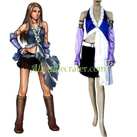 Final Fantasy Xii Yuna Lenne Song Halloween Cosplay Costume
