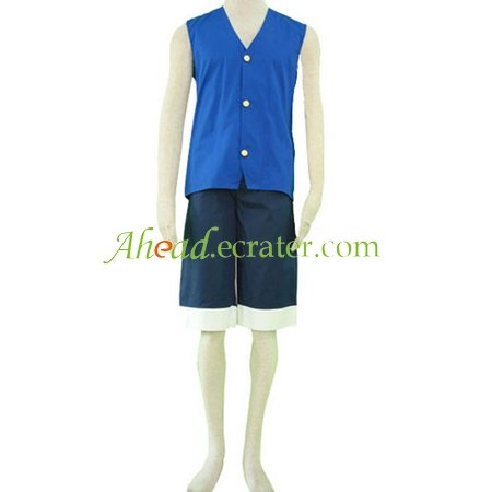 One Piece Cosplay Costume blue
