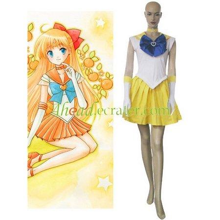 Sailor Moon Sailor Venus Minako Aino Cosplay Costume