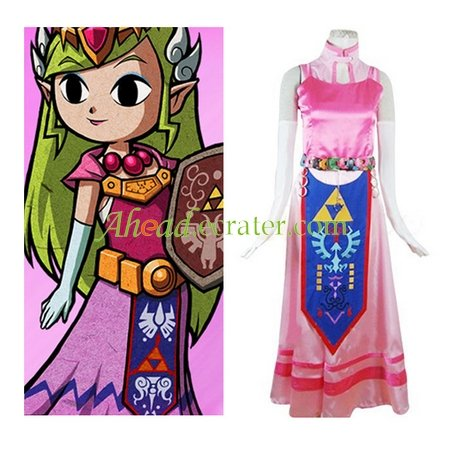 The Legend of Zelda Princess Zelda Halloween Cosplay Costume