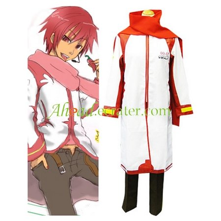 Vocaloid Akaito Red and White Cosplay Costume