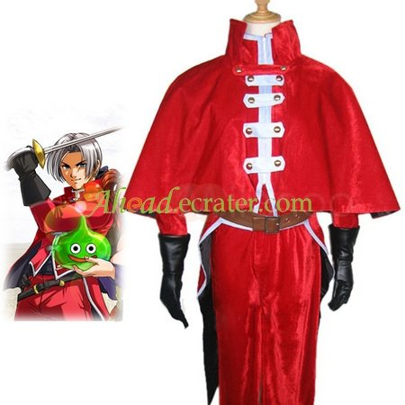 Dragon Quest Cosplay red Costume
