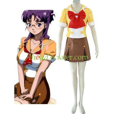 Macross Frontier Mihoshi Academy I Uniform Cosplay Costume