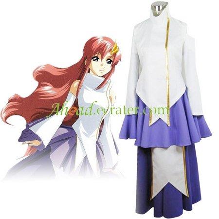 Gundam Seed Destiny Lacus Clyne Halloween Cosplay Costume