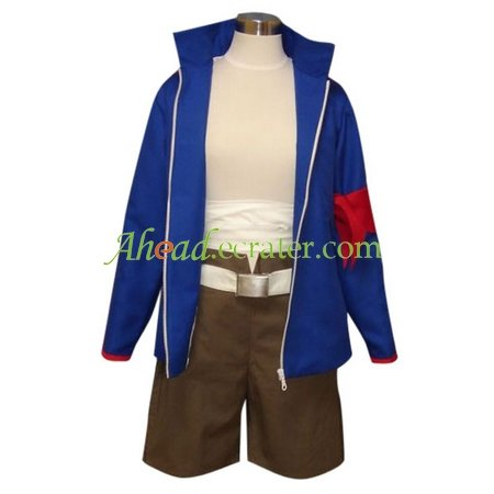 Gurren Lagann Simon Halloween Cosplay Costume