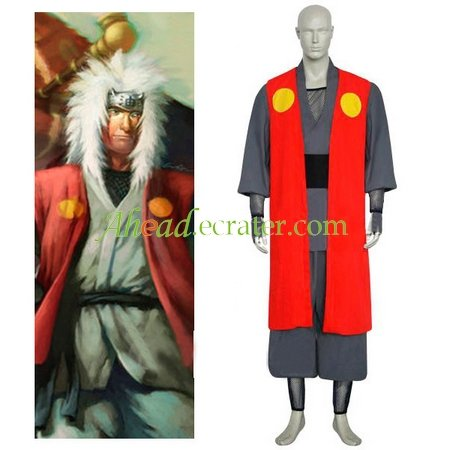 Naruto Jiraiya Halloween Cosplay Costume 2