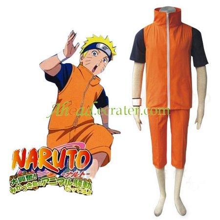 Naruto Shippuden Uzumaki Naruto Adult Halloween Cosplay Costume