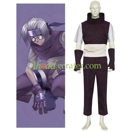 Naruto Yakushi Kabuto Cosplay Costume