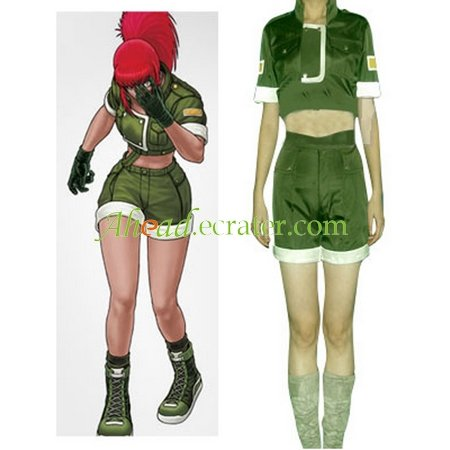 King Of Fighters Leona Cosplay Costume