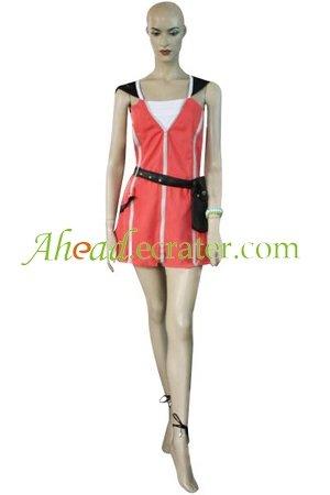 Kingdom Hearts Kairi Red Dress Halloween Cosplay Costume