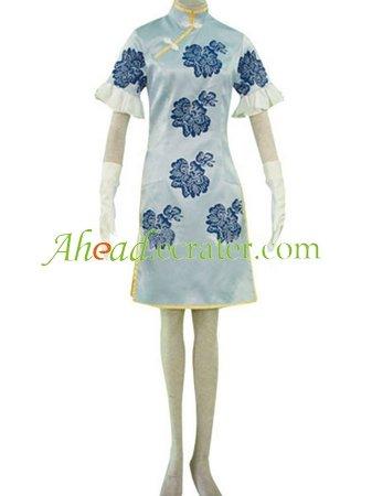Battle Vixens Chou'un Shiryuu Blue Cosplay Costume