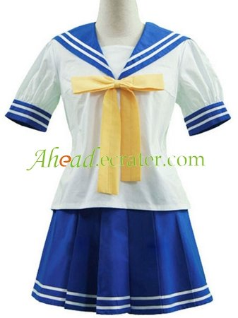 Lucky Star Ry�� Academy Female Summer Uniform Halloween Cosplay Costume