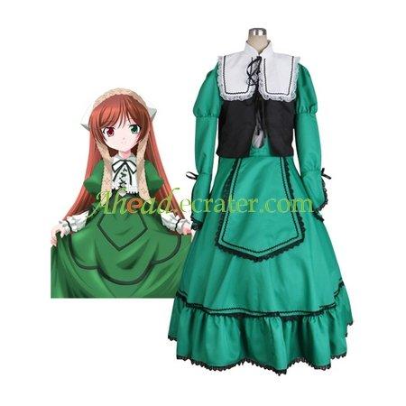 Rozen Maiden Suiseiseki Jade Stern Lolita Halloween Cosplay Costume