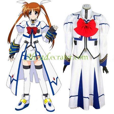 Magical Girl Lyrical Nanoha Cosplay Costume