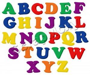refrigerator magnet alphabet letters upper case for scrapbooking in photoshop digital file