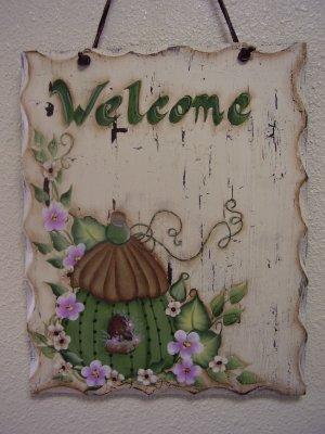 Birdhouse Welcome Door Hanger