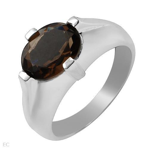 2.30ctw Smokey Topaz Sterling Silver Ring Ladies Size 7