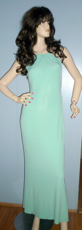 Escada Light Green Long Halter Evening Dress, Sz. 36