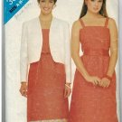 Butterick 3887 80s DRESS & LINED JACKET Vintage Sewing Pattern