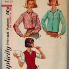 Simplicity 5072 60s SHIRT & VEST Vintage Sewing Pattern