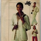 "Simplicity 7615 70s ""Jiffy"" CARDIGAN & PANTS Vintage Sewing Pattern"