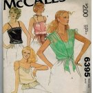 McCall's 6395 CAMISOLES 1970s Vintage sewing pattern