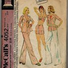 McCall's 4052 Vintage 70s HALTER TOP, PANTS & SHORTS sewing pattern