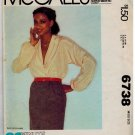 McCall's 6738 1970s Wrap-Blouse Vintage Sewing Pattern