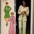 "Simplicity 7132 70s TWO PIECE DRESS ""Designer Fashion"" Vintage Sewing Pattern"