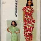 "Simplicity 7924 70s ""Designer Fashion"" DRESS Vintage Sewing Pattern"