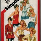 Simplicity 5352 80s *UNCUT* Misses' SET OF CAMISOLES & Jacket Vintage Sewing Pattern