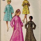 Simplicity 9074 70s Classic Women's ROBES frog closings Vintage Sewing Pattern