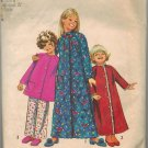 Simplicity 9688 70s Girls ROBE, TOP & PANTS Vintage Childrens Sewing Pattern