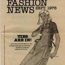 Butterick FASHION NEWS September 1976